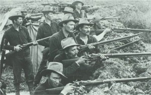 U.S. Volunteers trapdoor rifles 1899