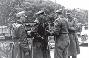 German commander surrendering to FEB commander...