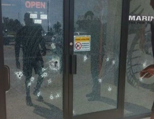 Chattanooga Marine Recruiting Station Door Photo April Grimley