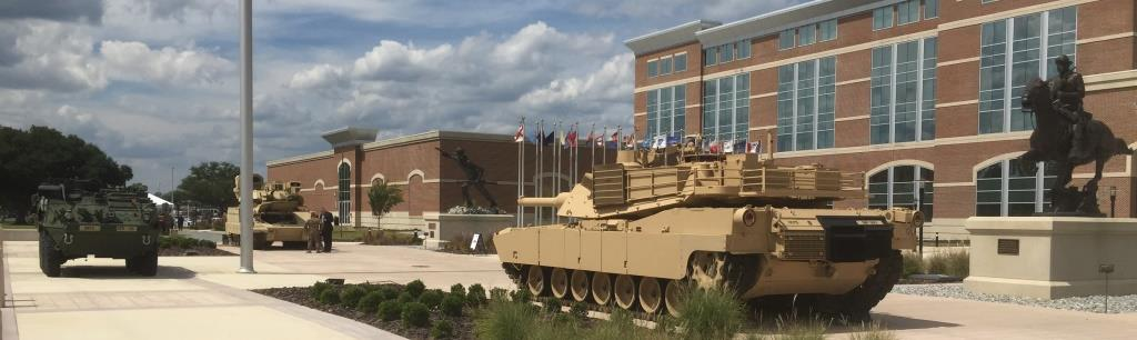 Front of Maneuver Center Headquarters during Maneuver Conference 2015. Photo by Will Rodriguez