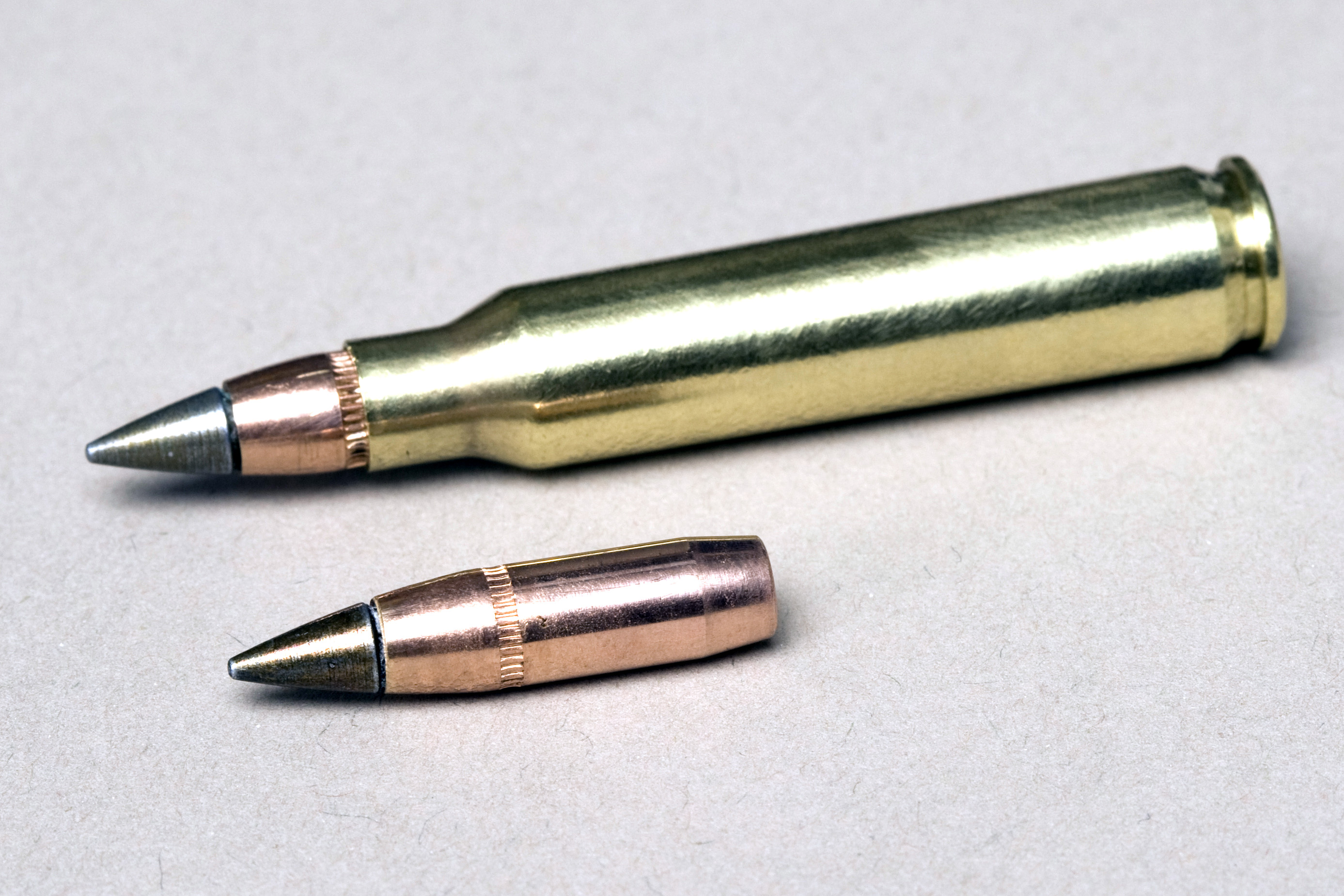 "M855A1 Enhanced Performance Round and its ""green"" bullet. US Army Photo"