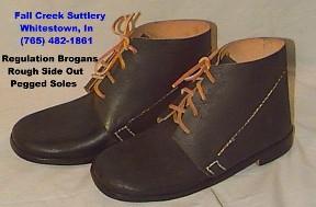 "Civil War infantry shoes (""Brogans"") for reenactors"