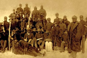 """""""Buffalo Soldiers"""" with buffalo robes.  US Army Photo"""