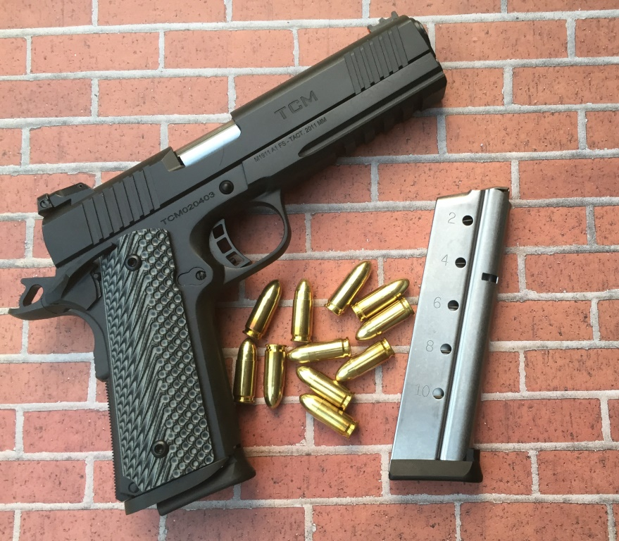 Rock Island's TCM TAC Ultra Full Size (FS) with 10+1 9mm (or 22TCM) rounds.  Photo by Will Rodriguez