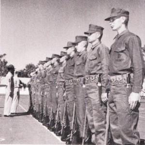 Pre Vietnam U.S. Marine recruits.  Leatherneck Magazine