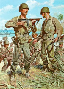 U.S. Army, Pacific Theater combat fatigues.  US Army
