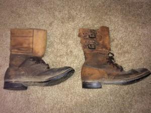 WW2 buckle flap combat boots