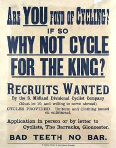 WWI recruiting poster.  Photo Imperial War Museum
