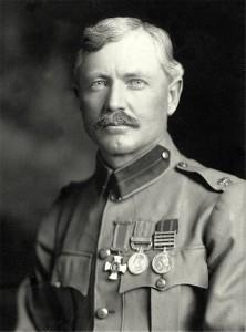 Frederick Burnham as British Army Major